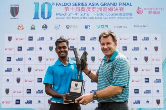 Sir Nick Faldo and Prasad